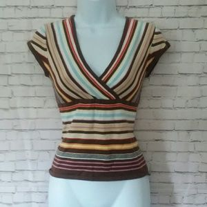OLD NAVY 90's style striped crop top